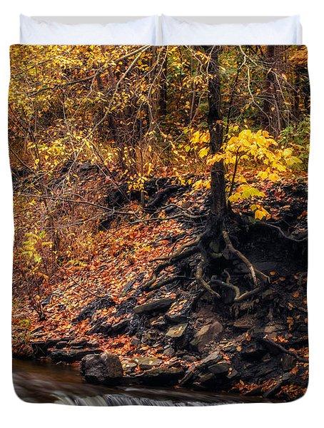 Autumn Flow Duvet Cover by Mark Papke