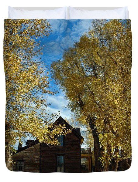 Autumn In Montana's Nevada City Duvet Cover by Bruce Gourley
