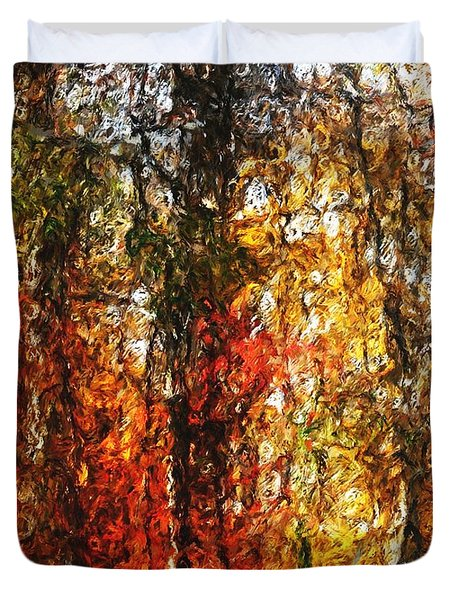 Autumn In The Woods Duvet Cover by David Lane