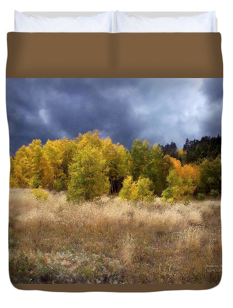 Autumn Meadow Duvet Cover by Carol Cavalaris