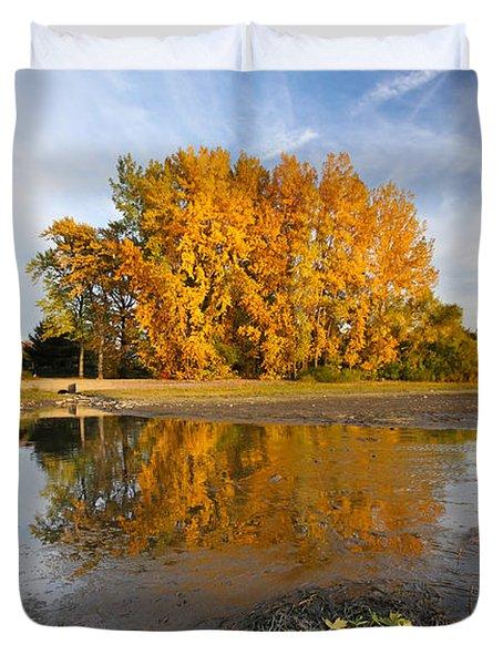 Autumn Nest Duvet Cover by Mircea Costina Photography