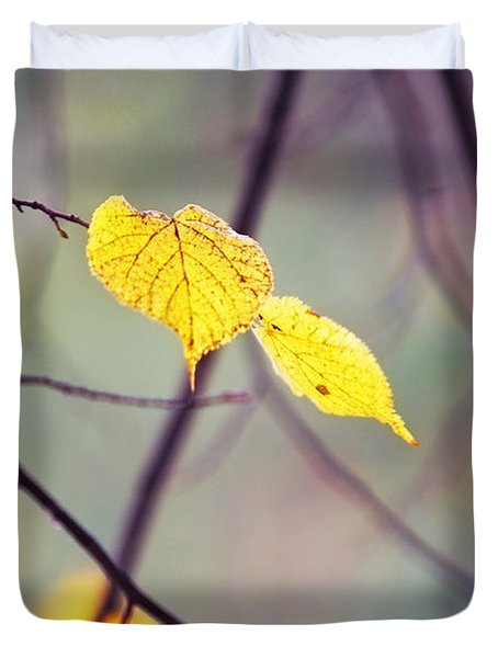 Autumn Nostalgie Duvet Cover by Jenny Rainbow