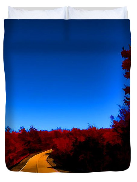 Autumn Red Duvet Cover by Douglas Barnard