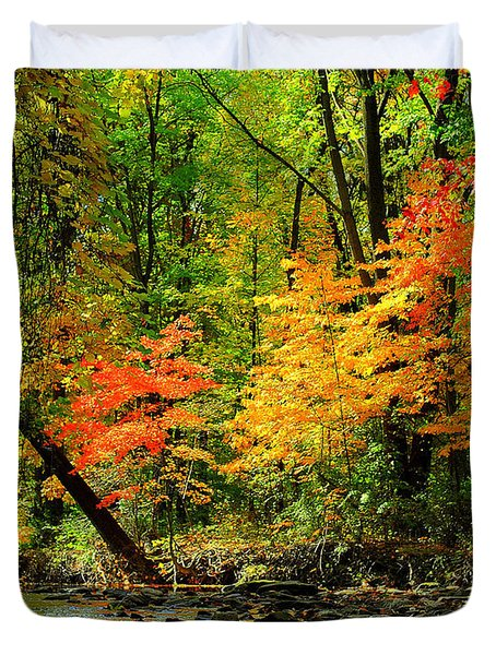 Autumn Reflects Duvet Cover by Frozen in Time Fine Art Photography