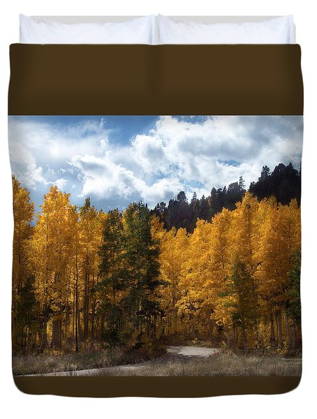 Autumn Splendor Duvet Cover by Carol Cavalaris