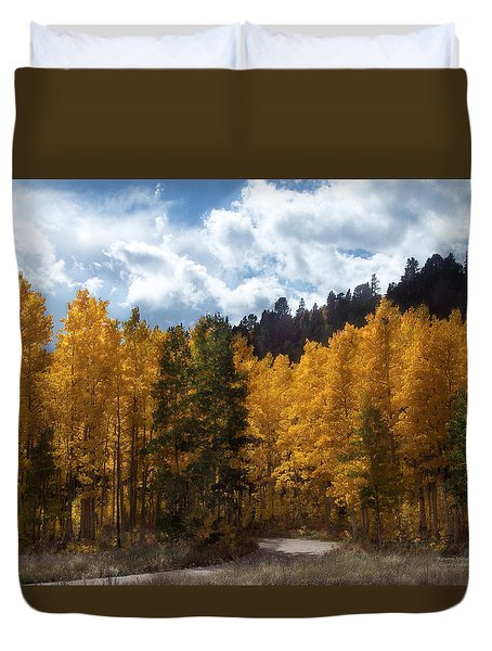 Autumn Splendor Duvet Cover by Carol Cavalaris