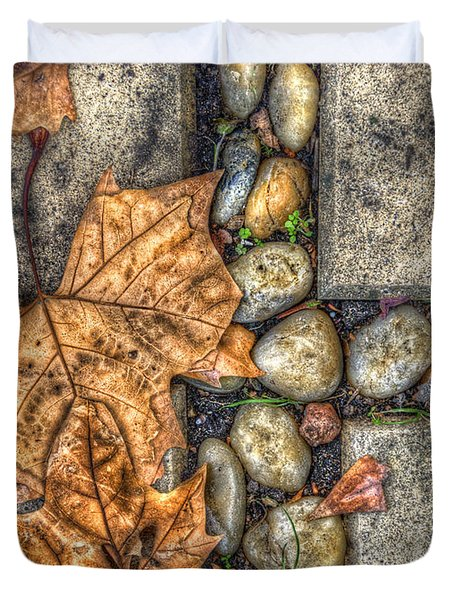 Autumn Texture Duvet Cover by Wayne Sherriff