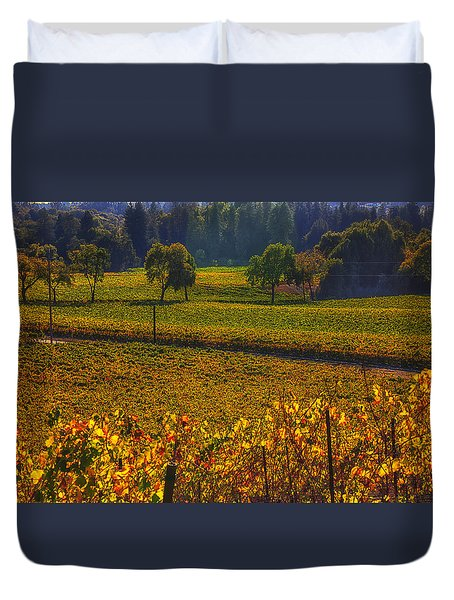 Autumn Vineyards Duvet Cover by Garry Gay