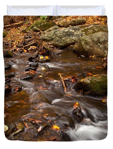 Autumns Creek Duvet Cover by Karol Livote