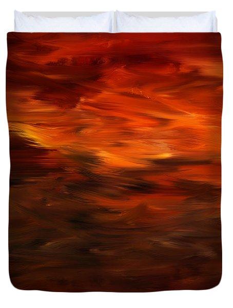 Autumn's Grace Duvet Cover by Lourry Legarde