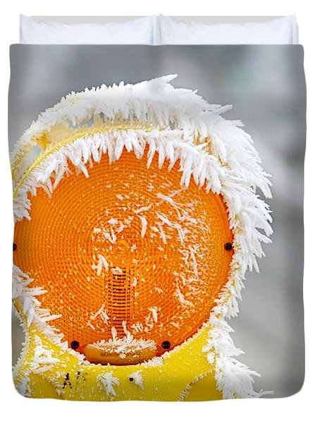 Baby It's Cold Outside Duvet Cover by Christine Till