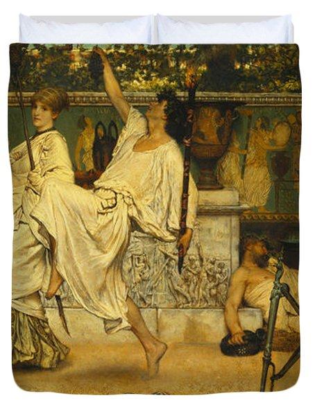 Bacchanal Duvet Cover by Sir Lawrence Alma-Tadema