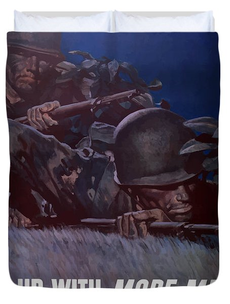 Back 'em Up Duvet Cover by War Is Hell Store
