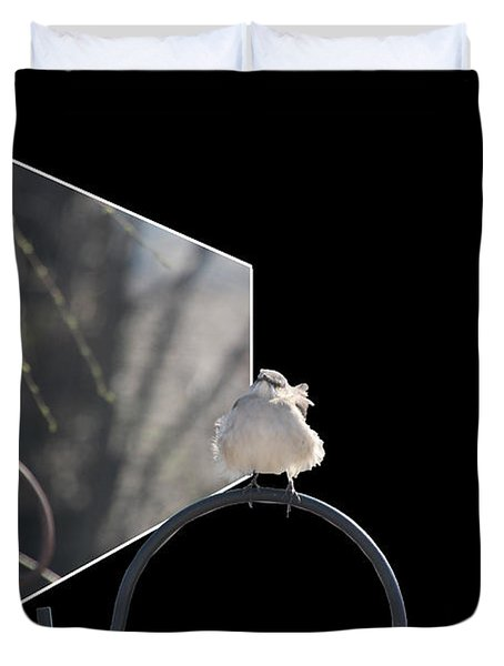 Bad Feather Day Duvet Cover by EricaMaxine  Price