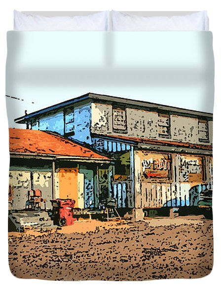 Bait Shop Duvet Cover by Barry Jones