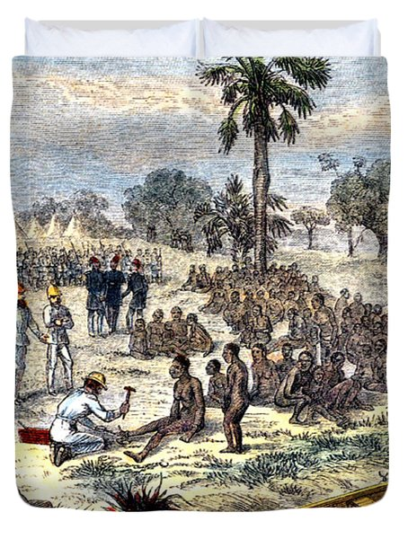 Baker Liberating Slaves In Africa, 1869 Duvet Cover by Photo Researchers