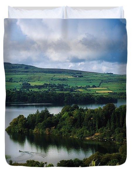 Ballindoon Abbey, Lough Arrow, Co Duvet Cover by The Irish Image Collection