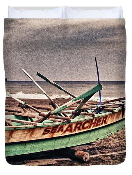 Banca Boat 2 Duvet Cover by Skip Nall