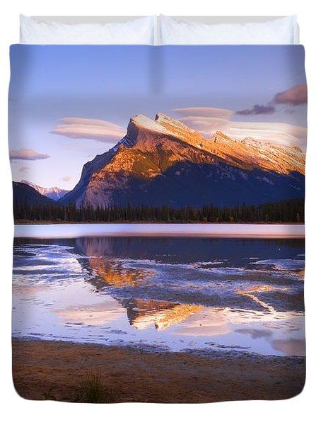 Banff National Park, Alberta, Canada Duvet Cover by Carson Ganci
