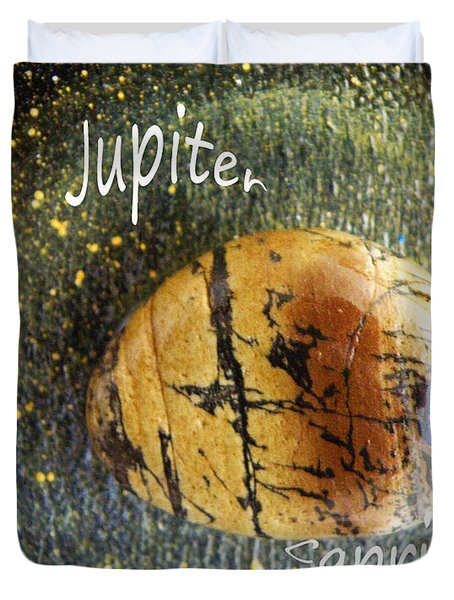 Barack Obama Jupiter Duvet Cover by Augusta Stylianou