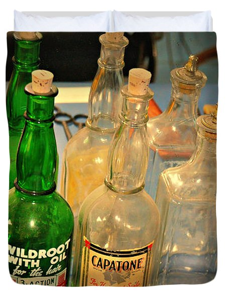 Barber Bottles Duvet Cover by Marty Koch