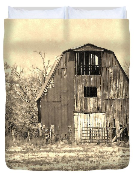 Barn-sepia Duvet Cover by EricaMaxine  Price
