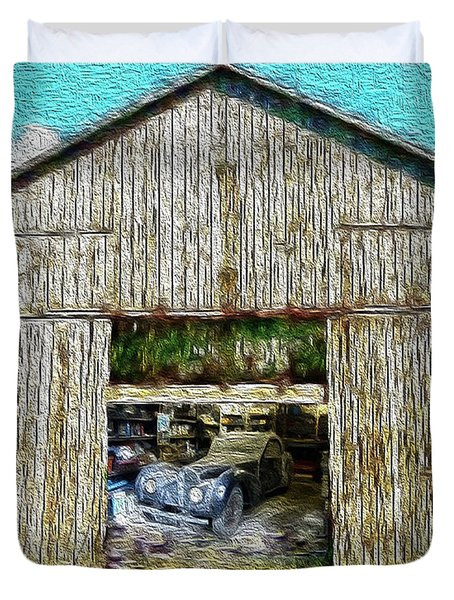 Barn Treasures Duvet Cover by Cheryl Young