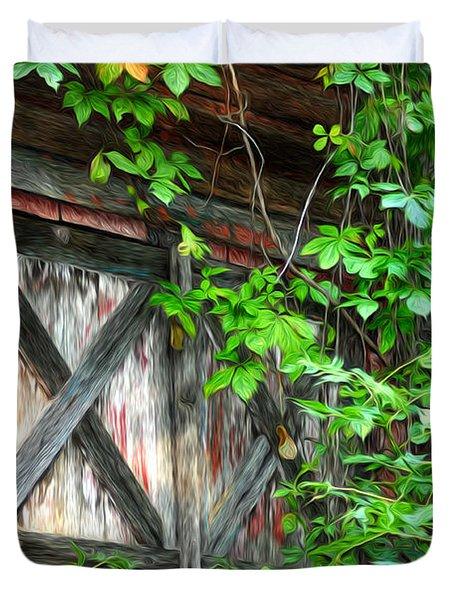 Barn Window Duvet Cover by Bill Cannon