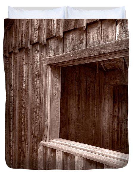 Barns Grand Tetons Duvet Cover by Steve Gadomski
