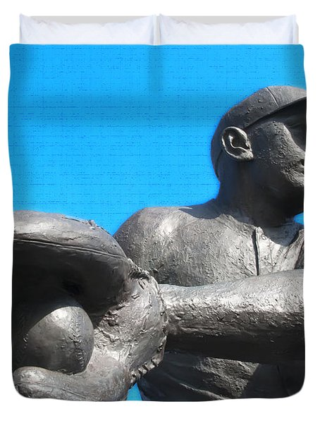 Baseball - Americas Pastime Duvet Cover by Bill Cannon