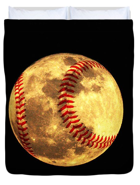 Baseball Moon Duvet Cover by Bill Cannon