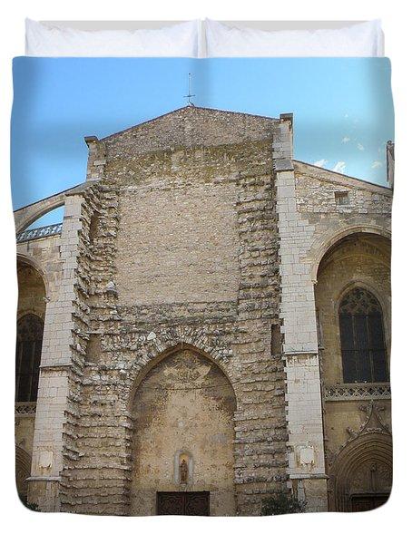 Basilica Of Saint Mary Madalene Duvet Cover by Lainie Wrightson