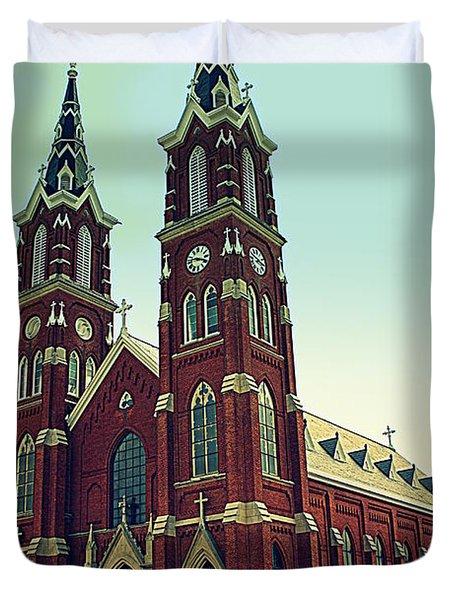 Basilica Of St.francis Xavier In Dyersville Iowa Duvet Cover by Susanne Van Hulst