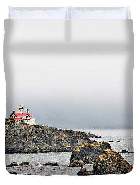 Battery Point Lighthouse California Duvet Cover by Christine Till