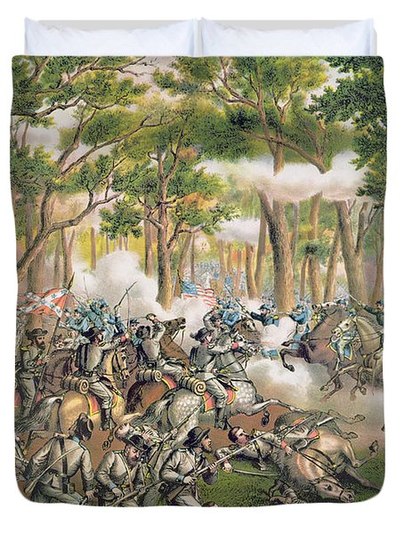 Battle Of The Wilderness May 1864 Duvet Cover by American School