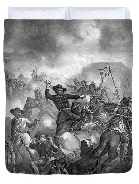 Battle On The Little Big Horn, 1876 Duvet Cover by Photo Researchers