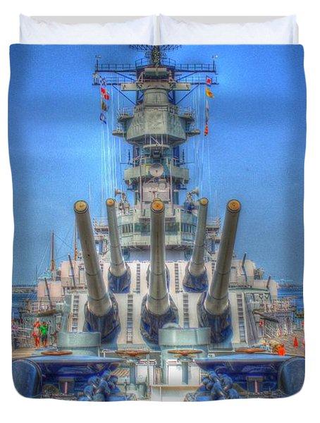 Battleship Duvet Cover by Dan Stone
