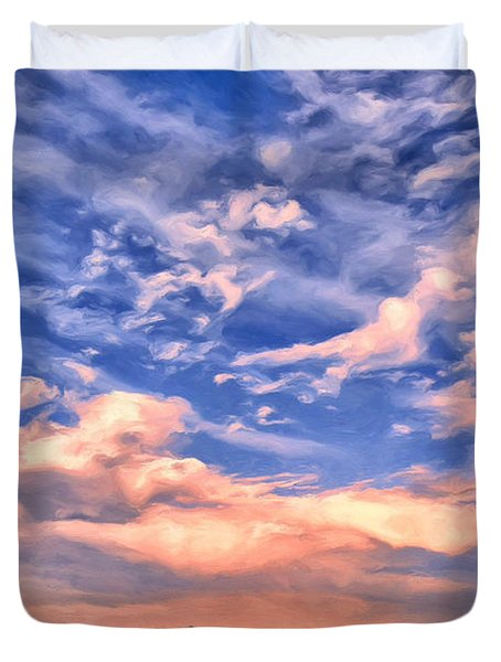 Beach At Sullivan's Island Duvet Cover by Dominic Piperata