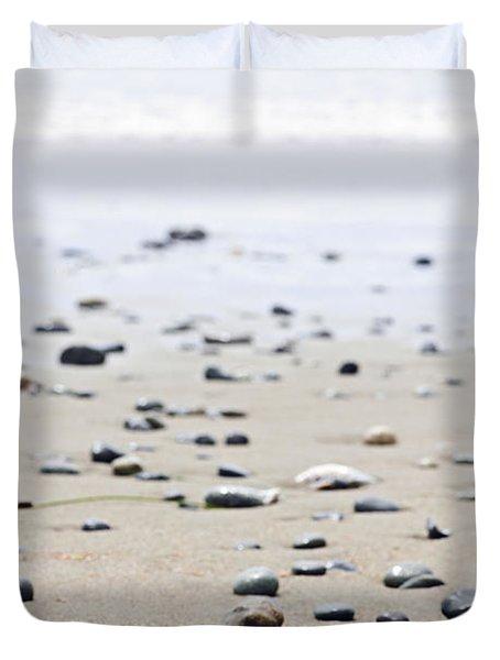 Beach Detail On Pacific Ocean Coast Of Canada Duvet Cover by Elena Elisseeva