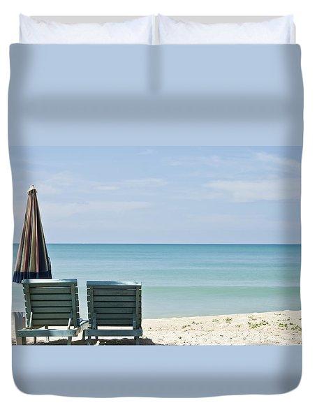Beach Life Duvet Cover by Georgia Fowler