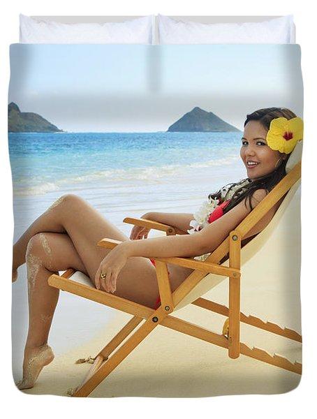 Beach Lounger Duvet Cover by Tomas del Amo