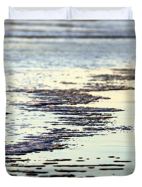Beach Water Duvet Cover by Henrik Lehnerer