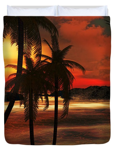 Beacon Of Light Duvet Cover by Lourry Legarde