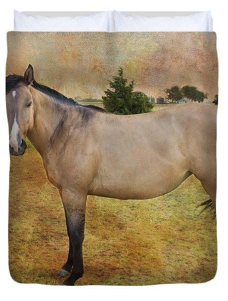 Beautiful Buckskin Duvet Cover by Betty LaRue