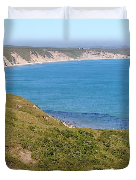 Beautiful Coastline of Point Reyes California . 7D16050 Duvet Cover by Wingsdomain Art and Photography