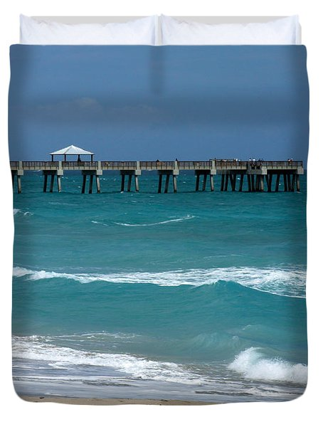 Beautiful Day At The Beach Duvet Cover by Sabrina L Ryan