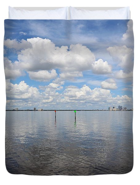 Beautiful Day In Tampa Duvet Cover by Carol Groenen