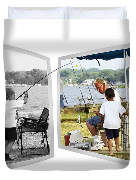 Becoming A Happier Day Duvet Cover by Brian Wallace