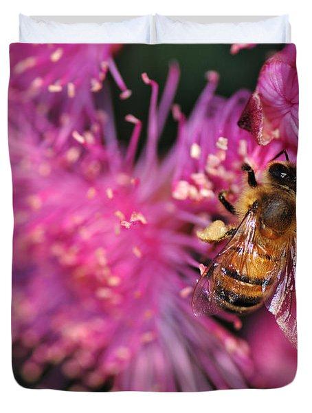 Bee On Lollypop Blossom Duvet Cover by Kaye Menner