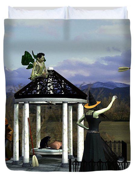 Before Dorothy Came To Oz Duvet Cover by Methune Hively